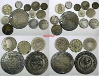 WORLD COINS LOT OF 17 SILVER COINS . ALL CIRCULATED
