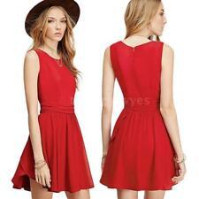 Plus Size Sleeveless Short/Mini Shirt Dresses for Women