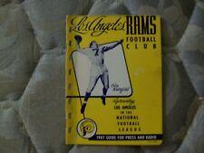 1947 LOS ANGELES RAMS MEDIA GUIDE Yearbook BOB WATERFIELD Press Book Football AD