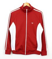 Fred Perry Vintage Womens Zip Through Red White Jacket Mod Casuals - UK 16