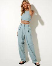 New listing MOTEL ROCKS Lakusa Trousers in Rami Blue Surf (MR98)