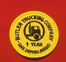 BUTLER TRUCKING COMPANY 1 year safe driving award driver patch 3 in dia #695