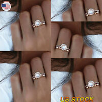 925 Silver Engagement Wedding Rings Zircon Colorful Crystal Women Jewelry Plated