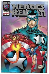 Heroes Reborn 1/2 Platinum Variant Signed Rob Liefeld Autograph 1st Rikki Barnes
