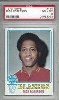 1973 Topps basketball card 144 Rick Roberson Portland Trail Blazers graded PSA 8