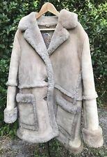 SHEEPSKIN SHEARLING LEATHER MARLBORO WO-MAN?  COAT JACKET Women's Medium Vintage