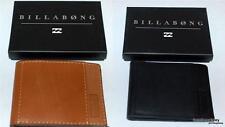 BILLABONG WALLET mens NEW Barlow Slim Line real Leather SURF LOGO Bifold Trendy
