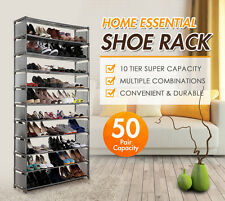 10-Tier Stackable Shoe Rack-50 Pair Light Weight & Portable Shoe Organisers