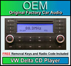 VW Delta LETTORE CD TOUAREG autoradio unità principale, fornito con Audio CODICE