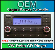 VW Delta CD player Touareg car radio headunit, Supplied with stereo code