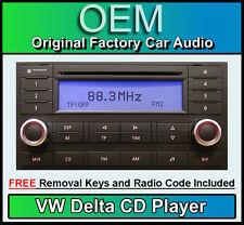 Lettore CD DELTA VW Touareg Autoradio Unità principale, in dotazione CON CODICE STEREO