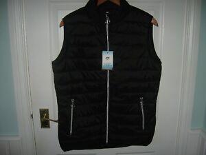 BNWT LADIES JRB GOLF FULL ZIP GOLF GILET BODY WARMER L BLACK POUCH BAG