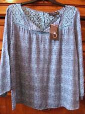 "Fred David...Teal Blouse...Lace Yolk...Button Closure Back...Size 42 "" Chest"