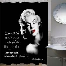 Marilyn Monroe Shower Curtain Bathroom Decor Black & White Girls