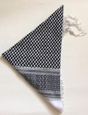 Palestine Black white Keffitey Shemagh Arab Scarf Cotton Unisex Hatta Brand New