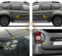 4 X ALTIMETRES DECO POUR DACIA DUSTER AIR 4x4 4WD AUTOCOLLANT STICKER BD428