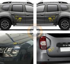 4 X ALTIMETRES DECO POUR DACIA DUSTER AIR 4x4 4WD AUTOCOLLANT STICKER BD428