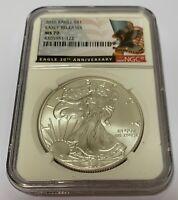 2016 1 oz American Silver Eagle NGC MS70 ER