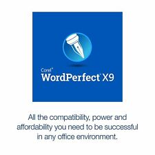 Corel WordPerfect Office X9 Standard Limited Quantites Free Shipping!