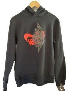 Nike Boy's Air Jordan Graphic Black/Crimson Fleece Lined Pullover Hoodie Sz XL