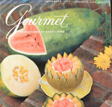 GOURMET MAGAZINE Sept 1975 Vancouver, Japan, Ice Cream, Melons, Kebabs, Longleat