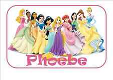 IRON ON TRANSFER for any color T-Shirt - Disney Princesses 14cm x 9cm