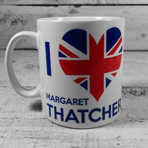 I LOVE HEART MARGARET THATCHER TORIES TORY PARTY CONSERVATIVES TRUE BLUE MUG CUP
