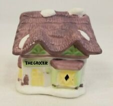 Vintage Readers Digest The Grocer 1991 Christmas Ornament Bell Village Porcelain