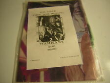 WARRANT TAPESTRY FABRIC WALL HANGING 1990 SEALED JANI LANE JERRY DIXION