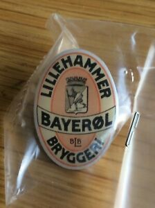Lillehammer bryggeri, bayerøl pins. Old Norwegian brewery