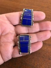 Band Tips Wow Apple Tip #A Native American Navajo Lapis Inlay Large Watch