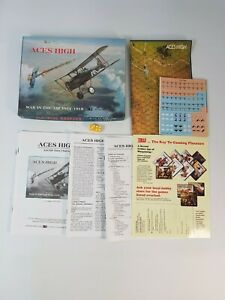 Aces High Board Game Vintage Strategy RPG Complete New Unpunched 1992 3W