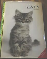 """Cat Book Cats Alice Buckland 17""""x24"""" 160 Pages Hard Cover Enormous With Poster"""