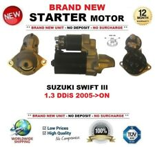 FOR SUZUKI SWIFT III 1.3 DDiS 2005->ON STARTER MOTOR 1.1 kW 9 Teeth BRAND NEW