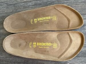 Birkenstock Replacement Footbed Insole Leather & Cork New Germany Made Size 44