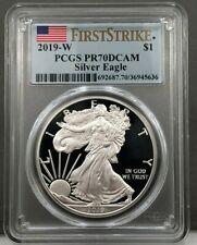 2019-W $1 American Silver Eagle PROOF PCGS PR70 DCAM First Strike Flag