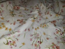 Charter Club Twin/Single Fitted Sheet Vintage-look Floral Cotton Print EUC