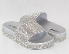 Women Sandals Sequins Sandals Glitter Rhinestone Design Slip On Flip Flops Shoes