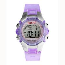 Waterproof Children Boys Girls Digital LED Alarm Date Sports Quartz Wrist Watch