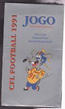1991 CFL Football Jogo Sealed Wax Box Cards  Canadian Football League