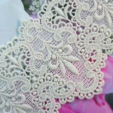 Embroidery  Cotton Crochet Lace Trim 8cm Wide lovely Flower 1 yard