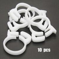 10 St Schlauchschellen PVC für 5.5-15.4 mm Schlauch Kunststoff Schlauchleitung