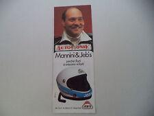 advertising Pubblicità 1980 CASCO HELMET JEB'S e MANNINI