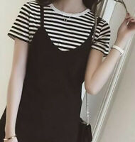korean fashion striped shirt