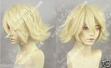hot  New Urahara Kisuke Short Light Blonde Cosplay Wigs + gift