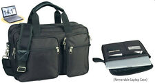 Expandable Laptop Portfolio Organizer Briefcase for Office Business School