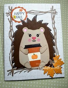 Stampin Up Card Kit Hedgie Hedgehog Fall Pumpkin Spice Latte Thinking of You