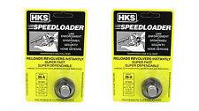 2 pack HKS 36A Speedloader for.38 Special .357 Magnum 5 Rd Cylinder S&W J Frames