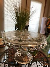 Antique Early American Pressed Glass Cake Pedestal Plate/Stand MINT CONDITION!!
