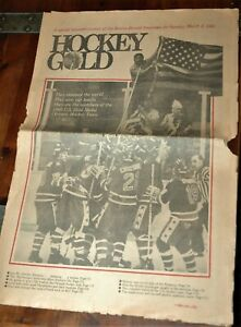 Rare Boston Herald Miracle on Ice Special Edition newspaper March 2, 1980